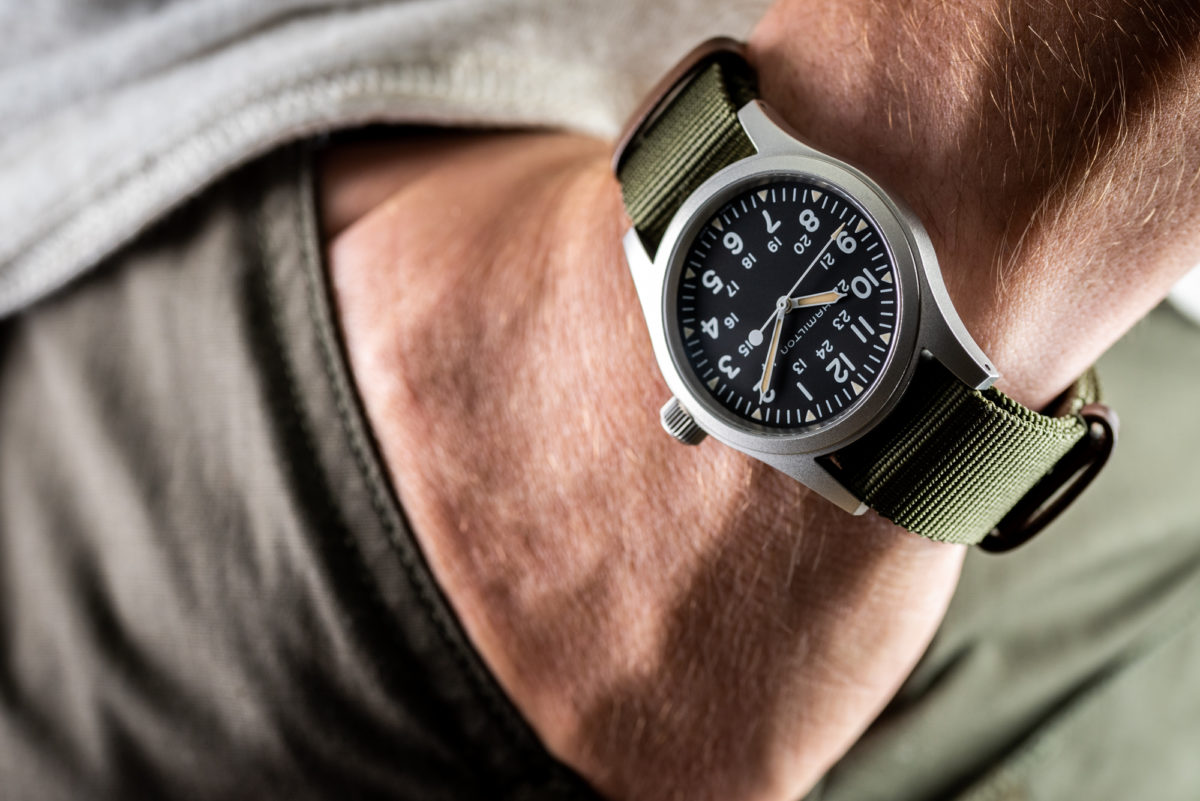 The Hamilton Khaki Field Mechanical goes with just about any outfit in any situation