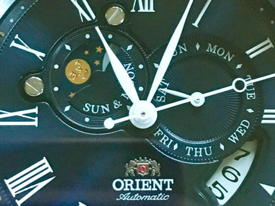 Orient Sun & Moon Blue Dial