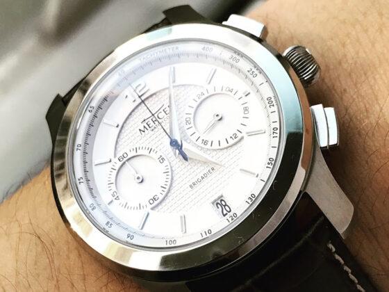 Mercer Brigadier chronograph in white
