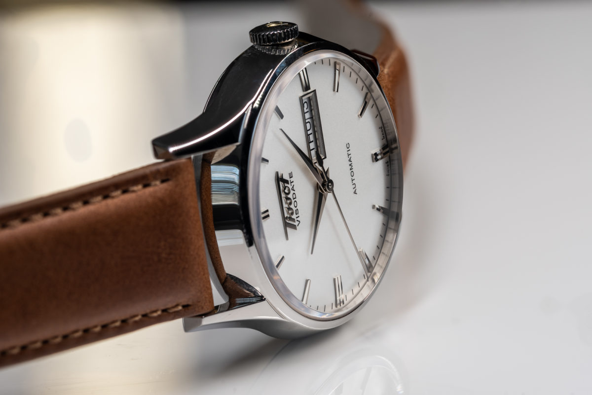 The Tissot Visodate is simple yet the dial has a lot of depth and detail